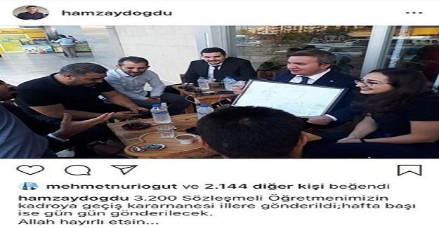 Hamza Aydoğdu Açıkladı: 3.200 Sözleşmeli Öğretmen Kadroya Dahil Edildi