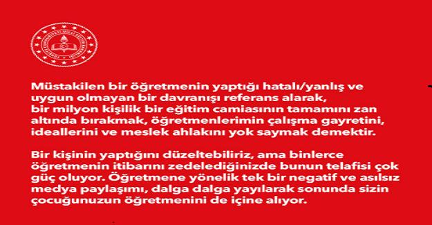 Milli Eğitim Bakanı Ziya Selçuk'tan Anlamlı Mesaj