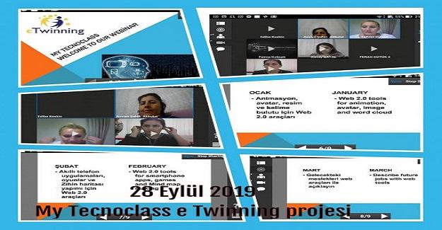 My Tecnoclass adlı eTwinning projesine dahil olduk