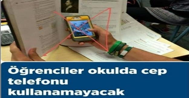 Öğrencilere Okulda Cep telefonu Yasağı Geldi