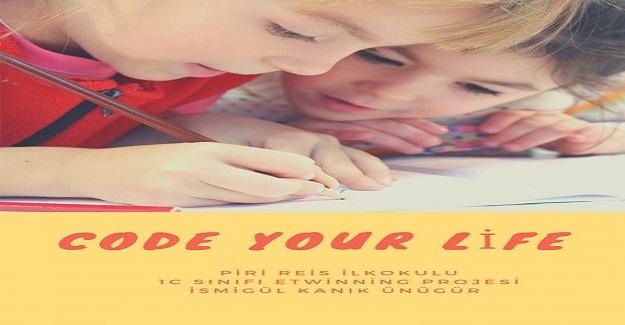 """Piri Reis İlkokulu 1/C Sınıfı """"Code Your Life """"eTwinning projesi başlıyor"""