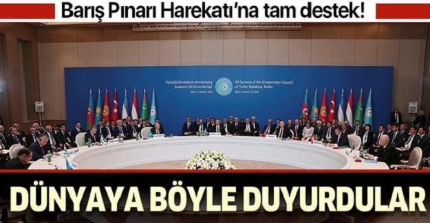 Türk Dili Konuşan Ülkeler İşbirliği Konseyi (Türk Konseyi) Devlet Başkanları 7. Zirvesi, Azerbaycan'ın Başkenti Bakü'de toplandı.