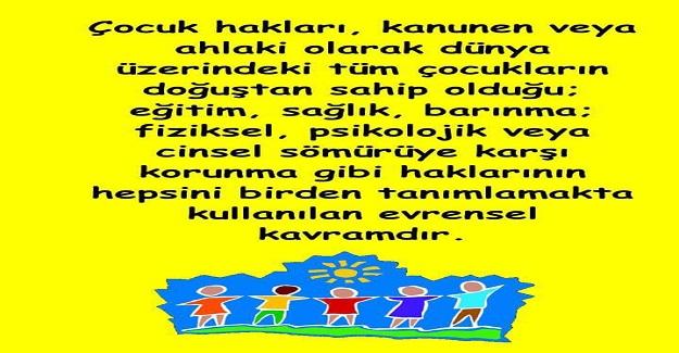 """20 Kasım """"Dünya Çocuk Hakları Günü"""""""