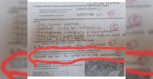 5.sınıf öğrencisinin cevabıymış çok güzel değil mi?