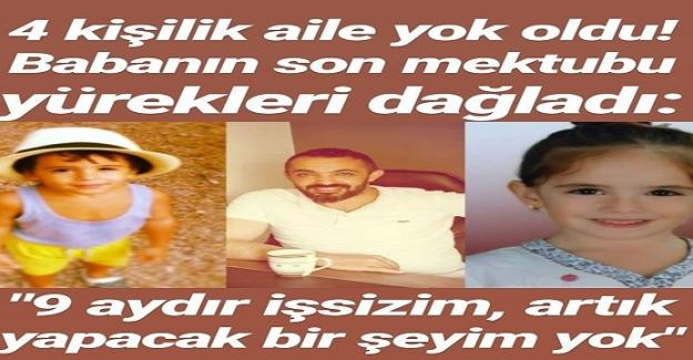 Antalya'da 4 kişilik ailenin toplu ölümü... Yürek yakan mektup ortaya çıktı