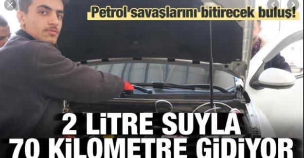 Çılgın Türkler iş başında: 2 litre suyla 70 kilometre gidilebiliyor!
