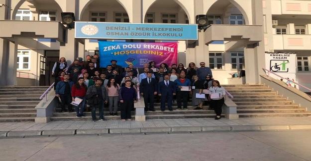 Denizli'de ilk kez düzenlenen Öğretmenler arası Akıl ve Zeka Oyunları turnuvası