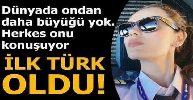 Dünyanın en büyük yolcu uçağının ilk Türk kadın pilotu. A380'i uçuran ilk Türk kadın pilot oldu