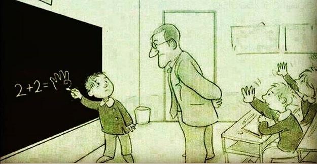 Görsel-Uzamsal zekaya sahip bir öğrenci...