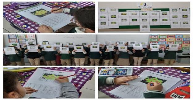 Öğrenciler kendilerine gönderilen pixel art etkinliğine katıldılar