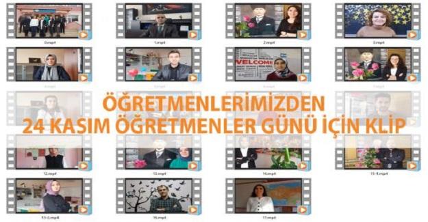 Öğretmenler 24 Kasım Öğretmenler Günü için klip Hazırladı