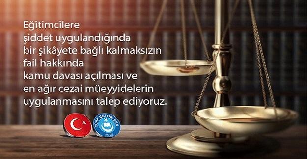Türk Eğitim-Sen, Necmeddin Kuyucu Davasına Müdahil Oluyor