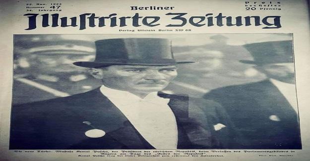 Yabancı basının en yakından takip ettiği dünya siyasetçilerinden biri olan Atatürk, bu kez de Cumhuriyet Bayramı kutlamaları sırasında çekilmiş silindir şapkalı fotoğrafıyla