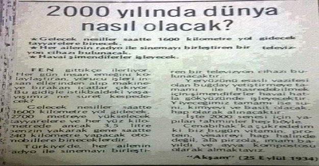 25 Eylül 1934 Tarihli Gazeteden Dikkat Çeken Paylaşım!