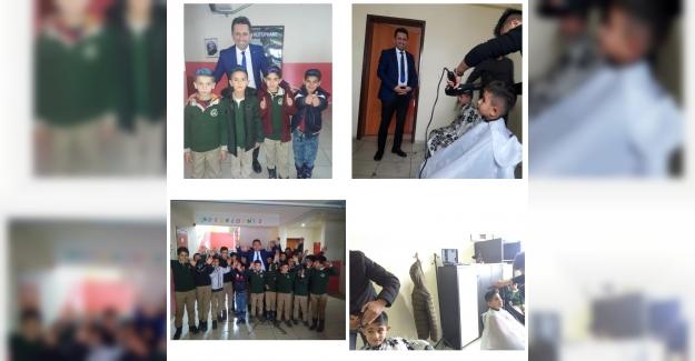 Bitlis MESEM Köy Öğrencilerini Tıraş Etti