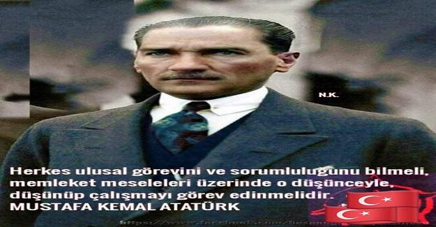 Gazi Mustafa Kemal ATATÜRK, Tarih öğretmenlerine hitaben dedi ki