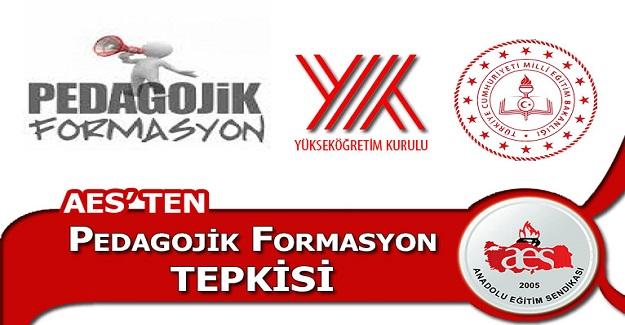PEDAGOJİK FORMASYON TEPKİSİ