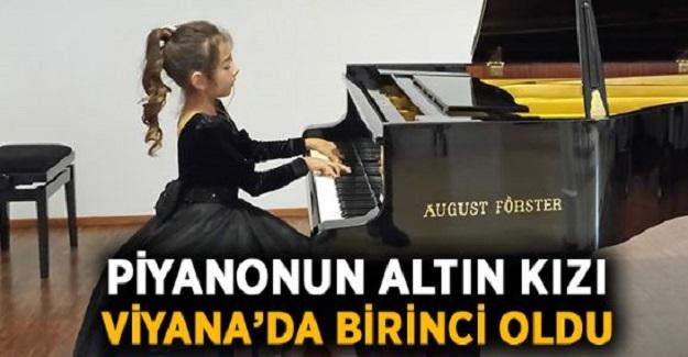 Piyanonun 8 Yaşındaki Altın Kızı Nil Göksel Viyana'dan Birincilikle Döndü