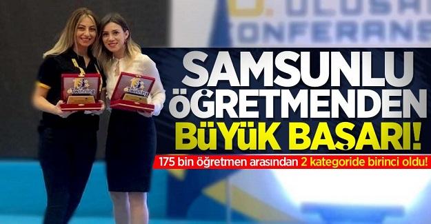 Samsunlu öğretmenin büyük başarısı. 2 kategoride Türkiye 1.'si oldu