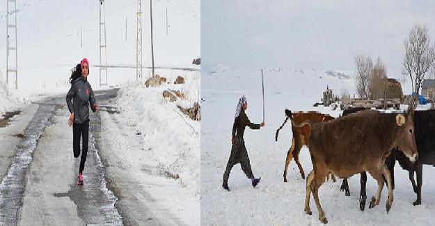 Üniversiteye hazırlanırken Çobanlık yapıyor, koşu antrenmanlarını aksatmıyor, garsonluk yapıyor ve yerel gazete çalışıyor: