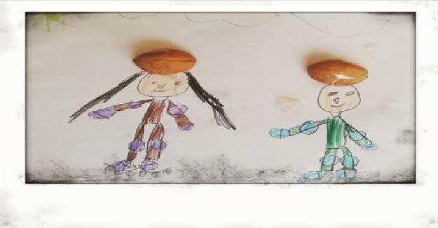 Anaokulu öğrencisi tarafından çizilmiş bir 3d resim çalışması...