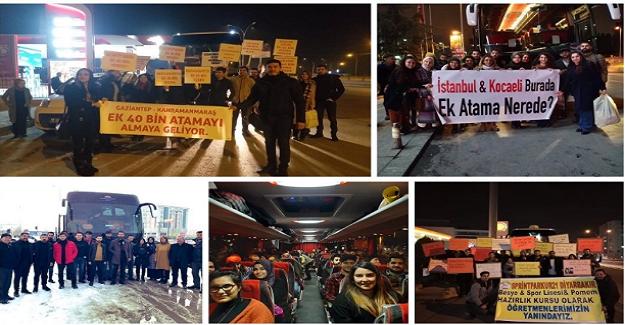 Atama Bekleyen Öğretmenler 40 Bin Atama İçin Başkent Ankara'da Buluştu