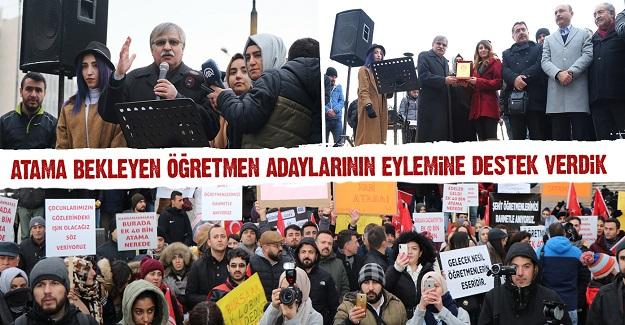 Eğitim Bir Sen: Atama bekleyen öğretmen adaylarının eylemine destek verdi