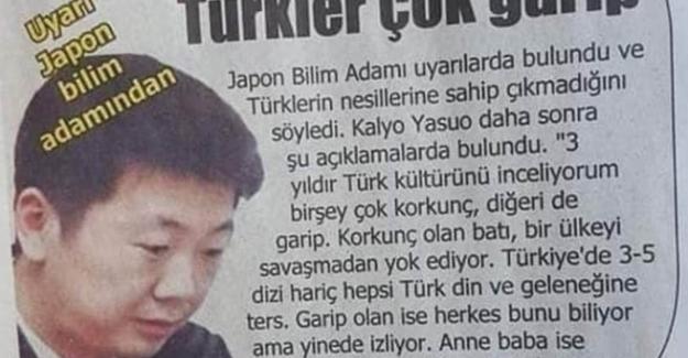 Japon bilim insanı Kalyo Yasuo: Batı, Türkiye'yi savaşmadan yok ediyor!
