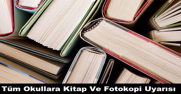 Milli Eğitim Bakanlığından Okullara Kitap Ve Fotokopi Uyarısı