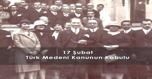17 Şubat TÜRK Medeni Kanunun 94.Yılı Kutlu Olsun!