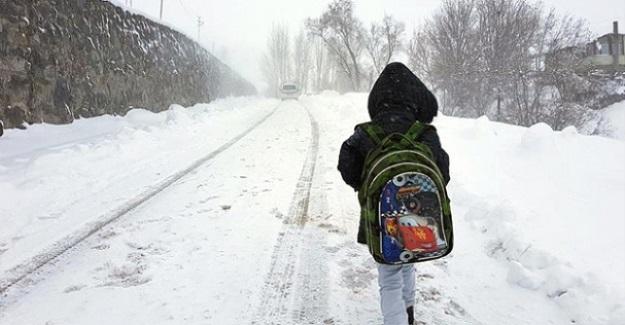 9 İlimizde Eğitime Kar Tatili