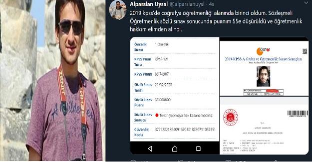 KPSS'de Türkiye Birincisi Olan Öğretmen Mülakatta Elendi!