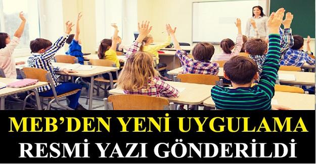 Milli Eğitim Bakanlığından Yeni Uygulama: Tüm Okullara Resmi Yazı Gönderildi