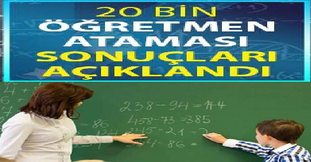 Öğretmen Atama Sonuçları MEB Tarafından Açıklandı