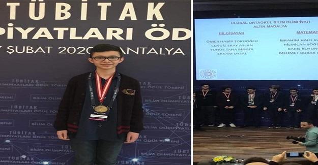 TÜBİTAK Bilim Olimpiyatları Bilgisayar Alanında Yunus Taha Bingül Adlı Öğrenci Altın Madalya Kazandı