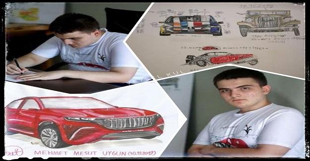 Yerli otomobil tasarımcısı 16 Yaşındaki Mehmet Mesut...
