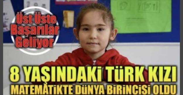 8 Yaşındaki Türk Kızı İngilizce Matematikte Dünya Birincisi Oldu