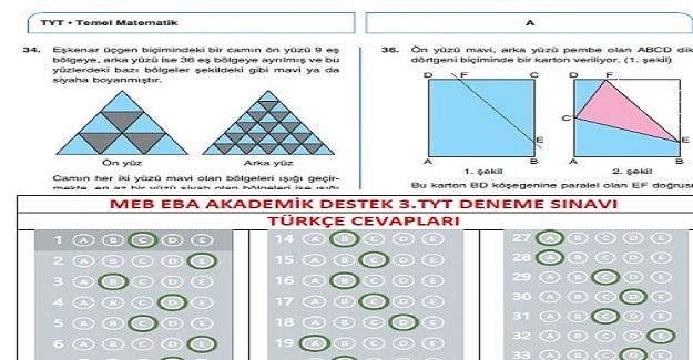 Milli Eğitim Bakanlığı EBA YKS (TYT-AYT) Deneme Sınavları Ve Cevapları