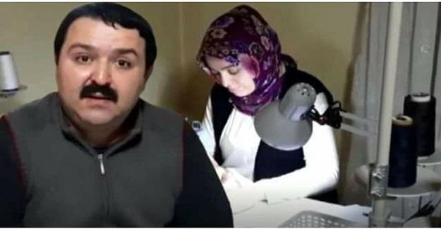 Öğretmen Çift Evlerinde Sağlık Personellerine Maske Dikiyor