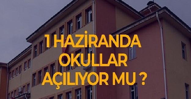 Bakan Ziya Selçuk'tan Flaş Açıklama: Okullar 1 Haziran'da Açılabilir.