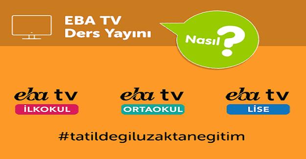 EBA TRT TV'nin 6-10 Nisan Tarihli Yayın Akışı