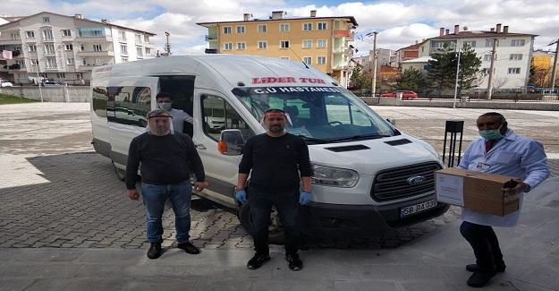 Gönüllü Öğretmenler Sivas Bilsem'de Ürettikleri Maskeleri Sağlık Kuruluşlarına Dağıttı