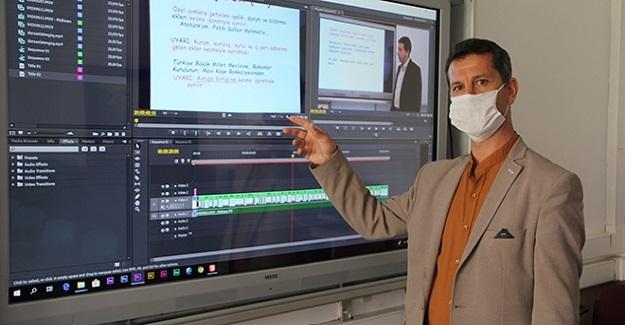 İl Milli Eğitim Müdürülüğünden öğrencilere online ders kanalı açtı