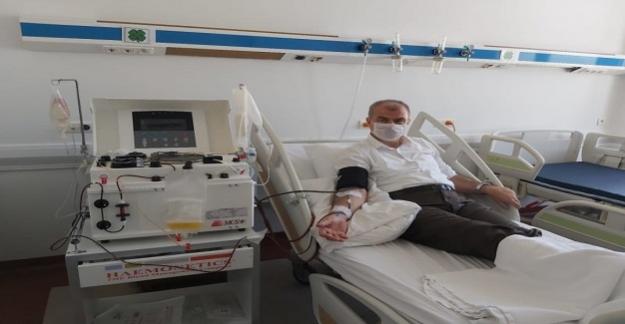 Korona Virüsünü Yenen İl Milli Eğitim Müdürü Plazma Bağışçısı Oldu