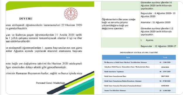 18 Mart'ta Ataması Yapılan Göreve Başlatılmayan Öğretmenlerimize MEB'den Müjde Geldi