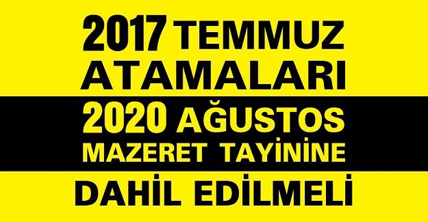 2017'de Atananlar Mazeret Tayinlerini Kaçıracak