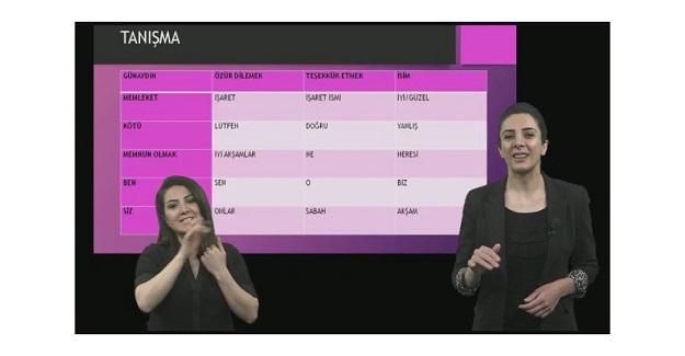 EBA'da İşaret Dili Dersleri Başladı