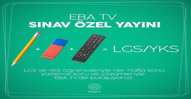 LGS Ve YKS Öğrencilerine TRT EBA Tv'de Hafta Sonları İçin Sınav Özel Yayını