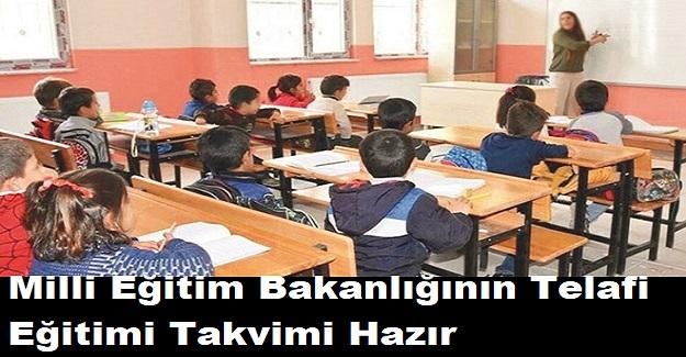 Milli Eğitim Bakanlığının Telafi Eğitimi Takvimi Hazır. İşte O Takvim