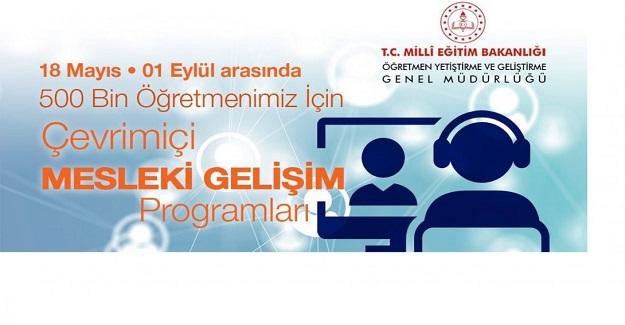 Türk Eğitim Tarihinin En Büyük Uzaktan Eğitim Mesleki Gelişim Programı